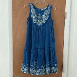 Anthropologie Blue Dress